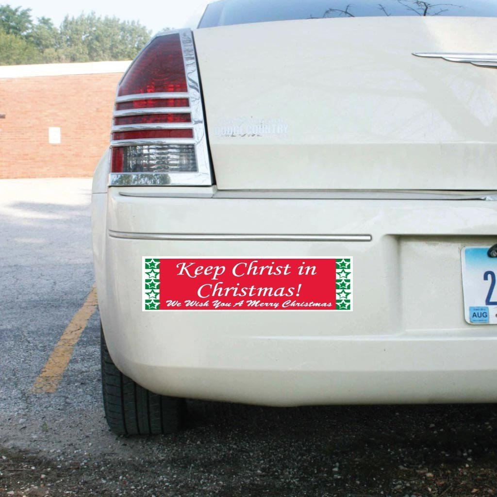 Keep Christ in Christmas (Red & Green) Bumper Magnet - FREE SHIPPING