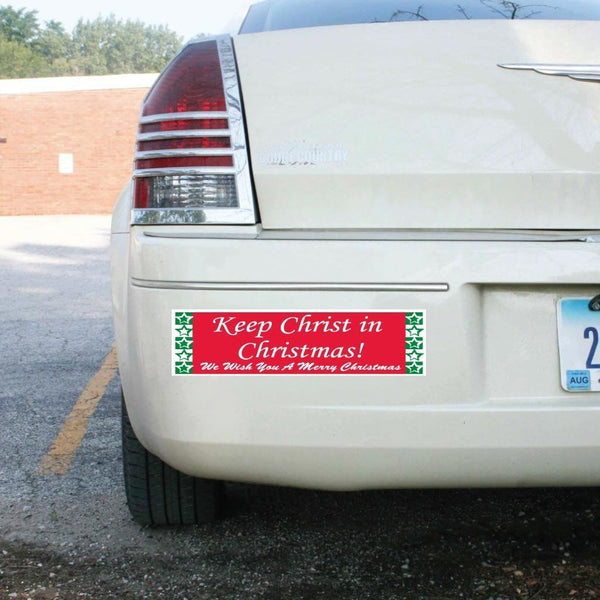 Keep Christ in Christmas (Red & Green) Bumper Magnet