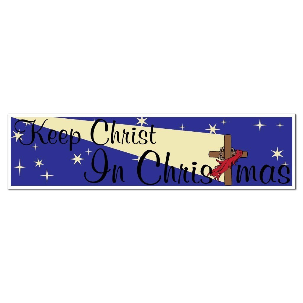 Keep Christ in Christmas (Cross) Bumper Magnet - FREE SHIPPING