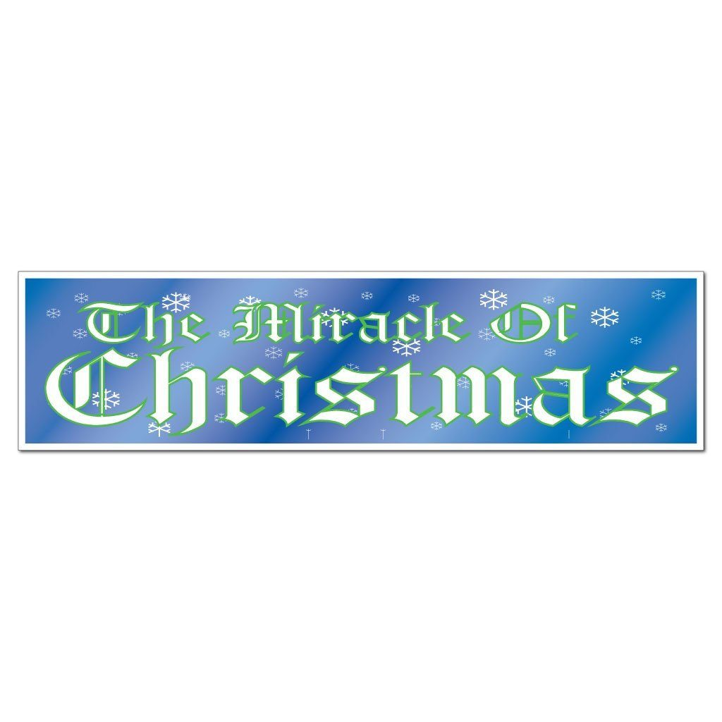 The Miracle of Christmas Bumper Magnet (Pair) - FREE SHIPPING