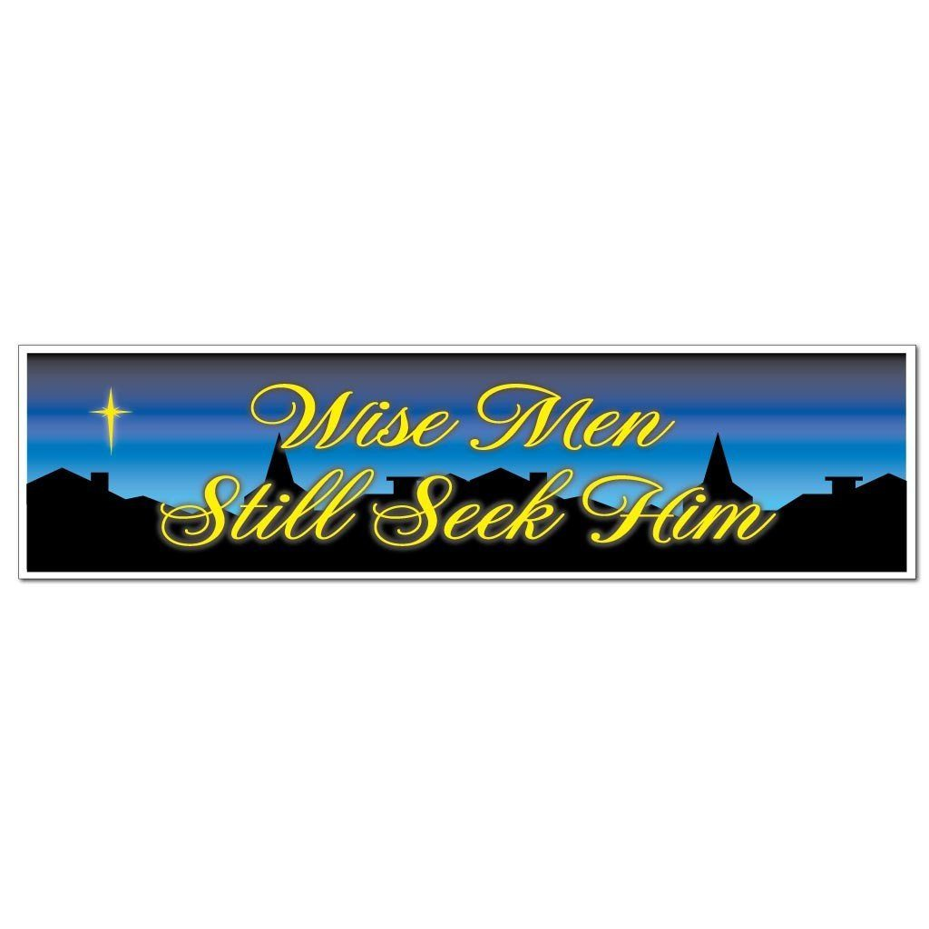 Wise Men Still Seek Him Bumper Magnet (Pair) - FREE SHIPPING