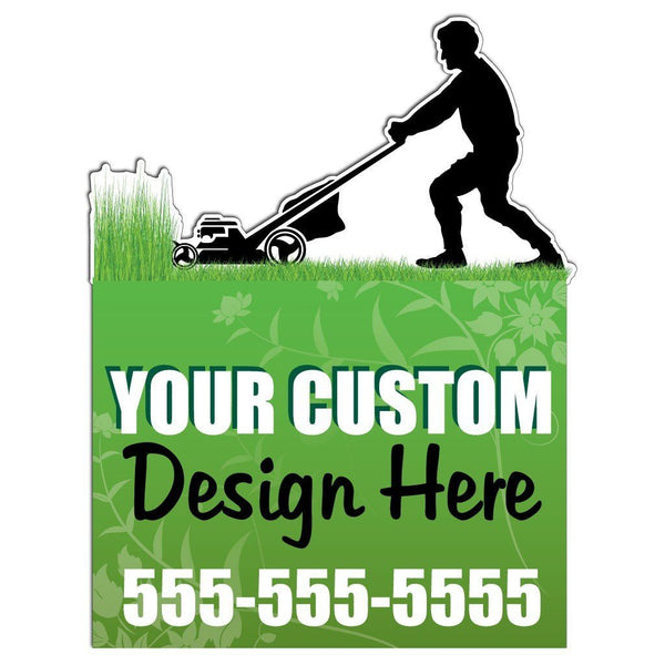 2D template for a lawn care business