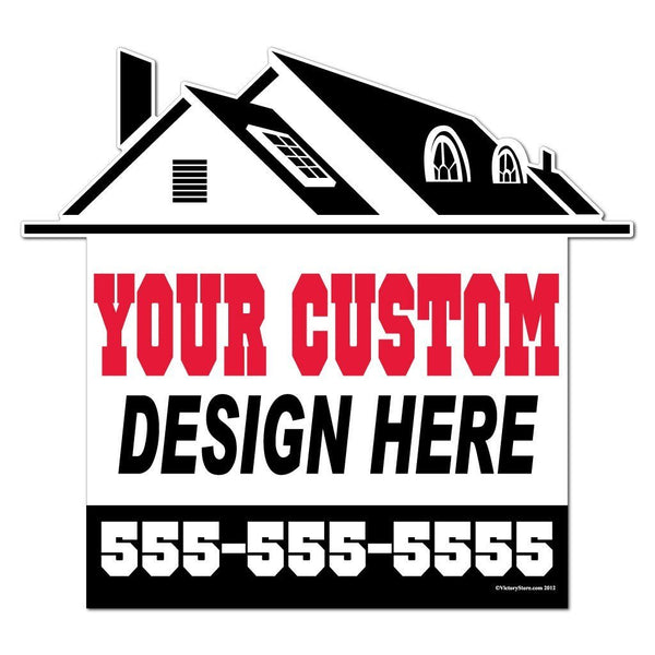 A 2D template for a realtor sign