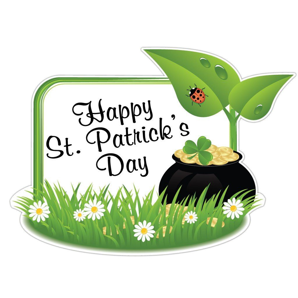 St. Patrick's Day Lawn Sign Decoration - 3'x4' Pot of Gold Sign - FREE SHIPPING