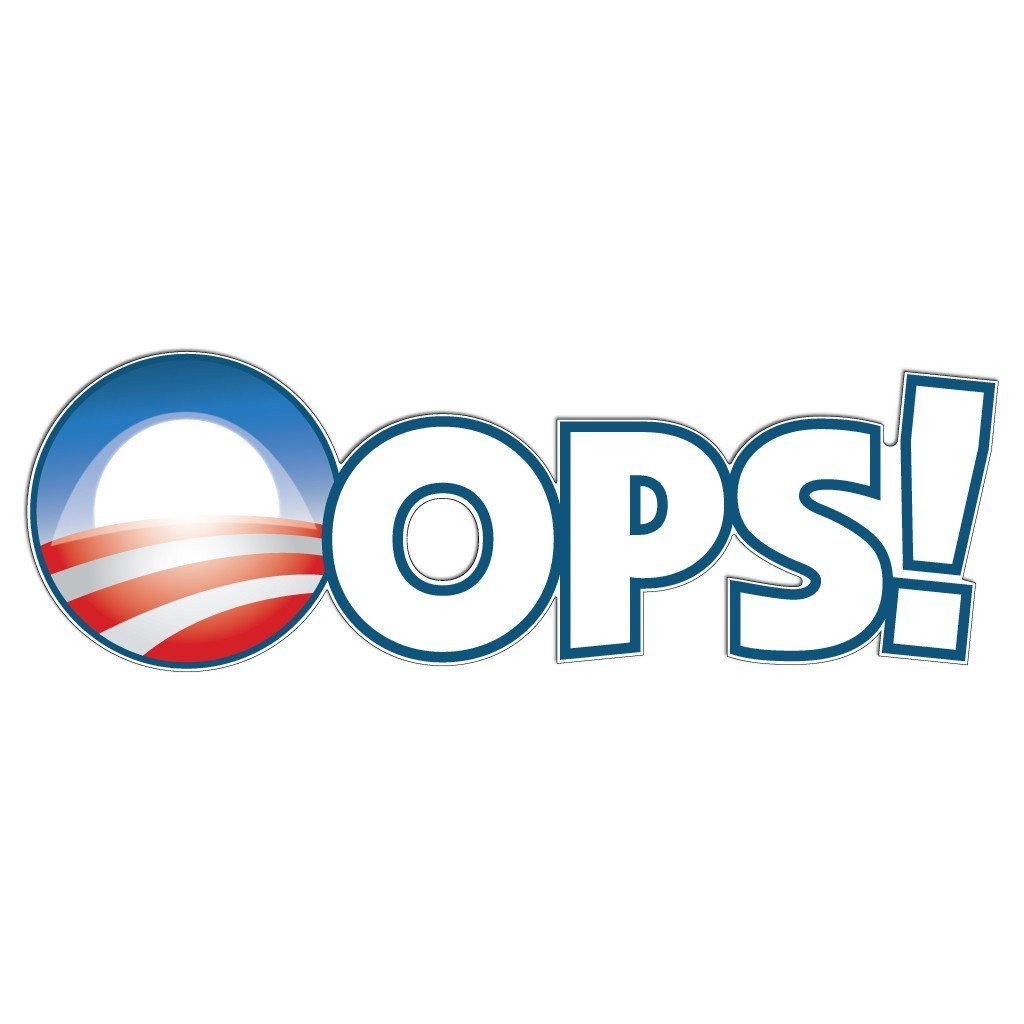 Oops! Aint-Obama Yard Sign with 3 EZ Stakes