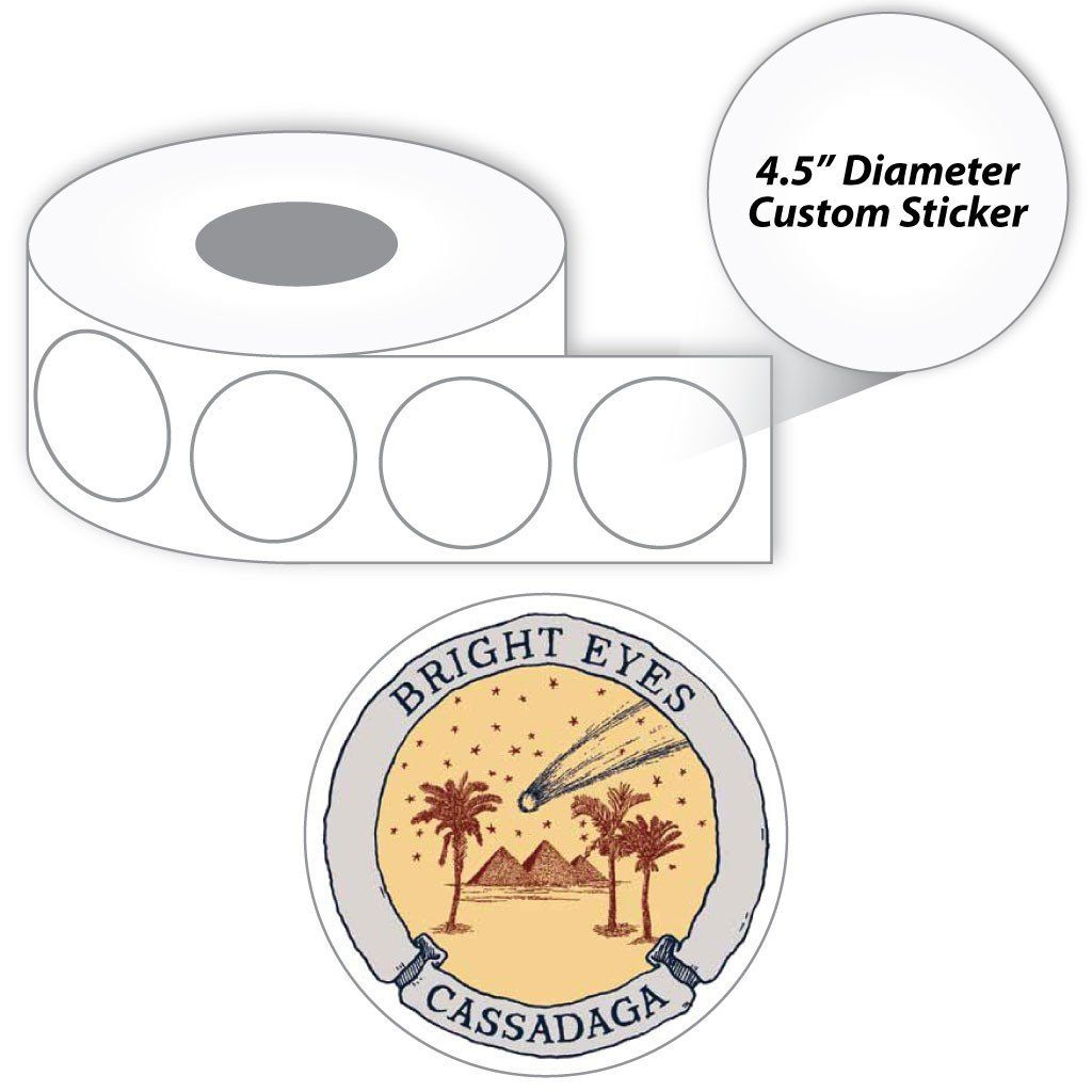 A roll of personalized stickers