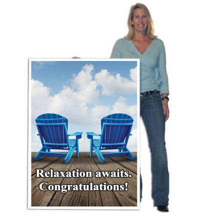 Giant retirement cards personalized giant greeting cards 4 tall design your own giant retirement card m4hsunfo