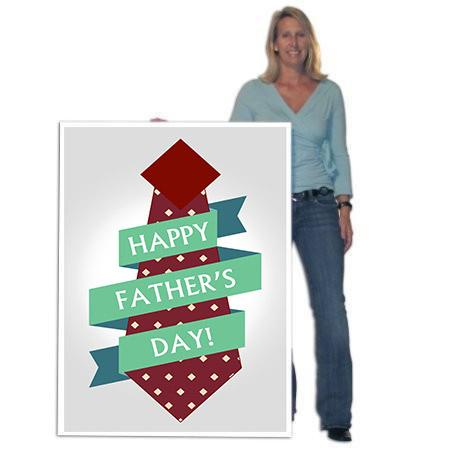 4' Tall Design Your Own Giant Father's Day Cards