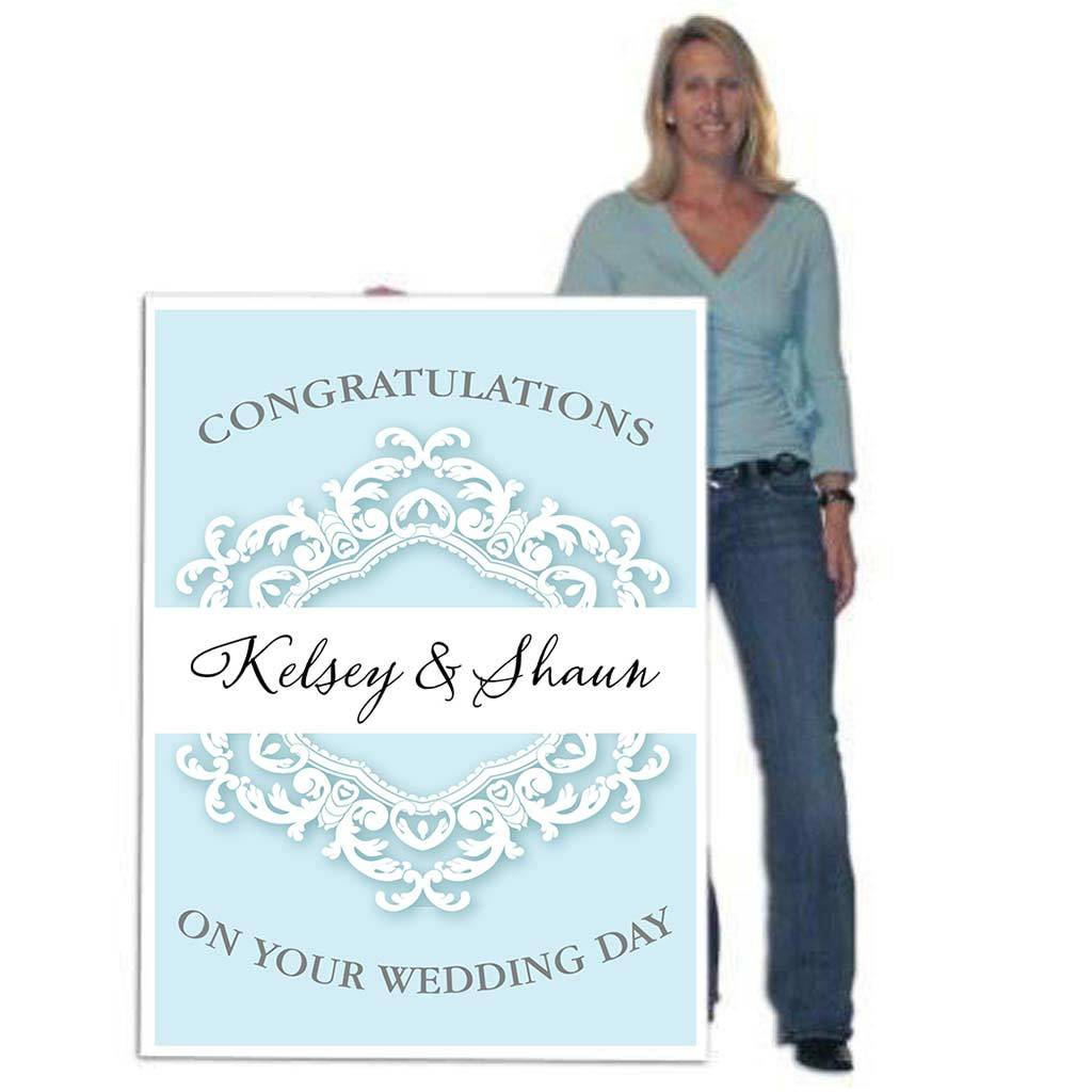 4' Tall Design Your Own Giant Wedding Card