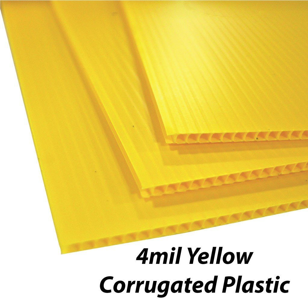 House 4mm Corrugated Plastic Yard Sign Blank - White or Yellow