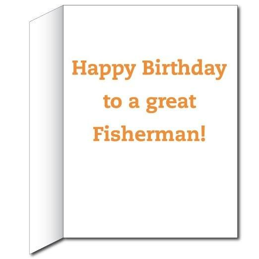 2'x3' Giant Birthday Card with Envelope - Fisherman Silhouette - Free