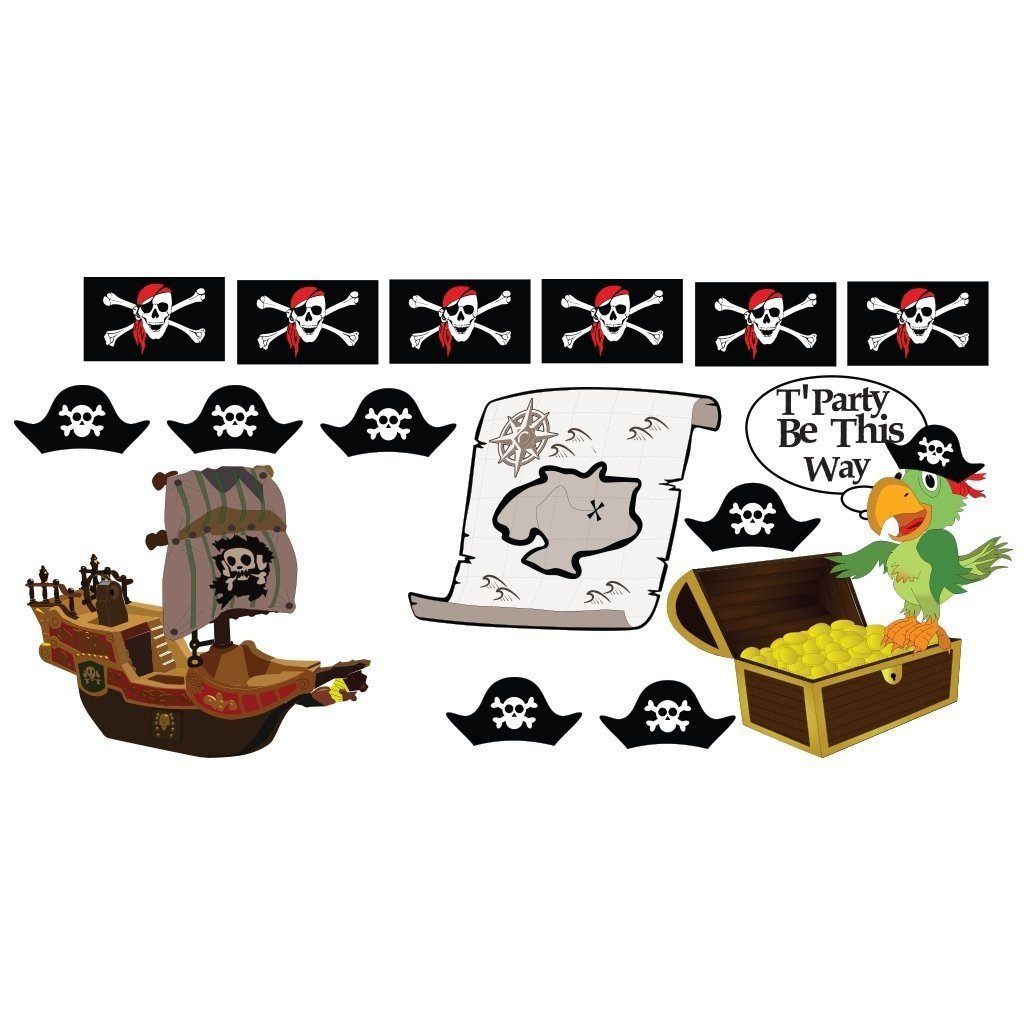 Pirate Party Pathway Markers - Pirate Themed Birthday Yard Decoration - FREE SHIPPING