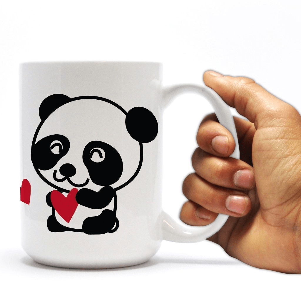 "Promposal 15oz Coffee Mug - ""PANDAmonium Prom"" Panda Design"