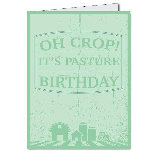 2'x3' Giant Belated Birthday Card - Oh Crop! It's Pasture Birthday -