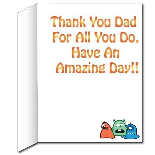 3' Stock Design Giant Dad Card - Dads Birthday Card or Fathers Day