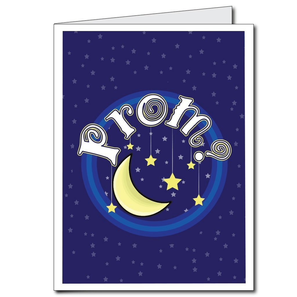 "Moon and Stars ""Prom?"" - 2'x3' Giant Promposal Greeting Card with"