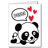 PANDAmonium Prom - 2'x3' Giant Promposal Greeting Card with Envelope