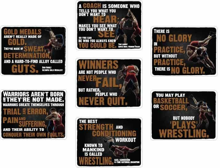 7-sign wrestling room motivational signs