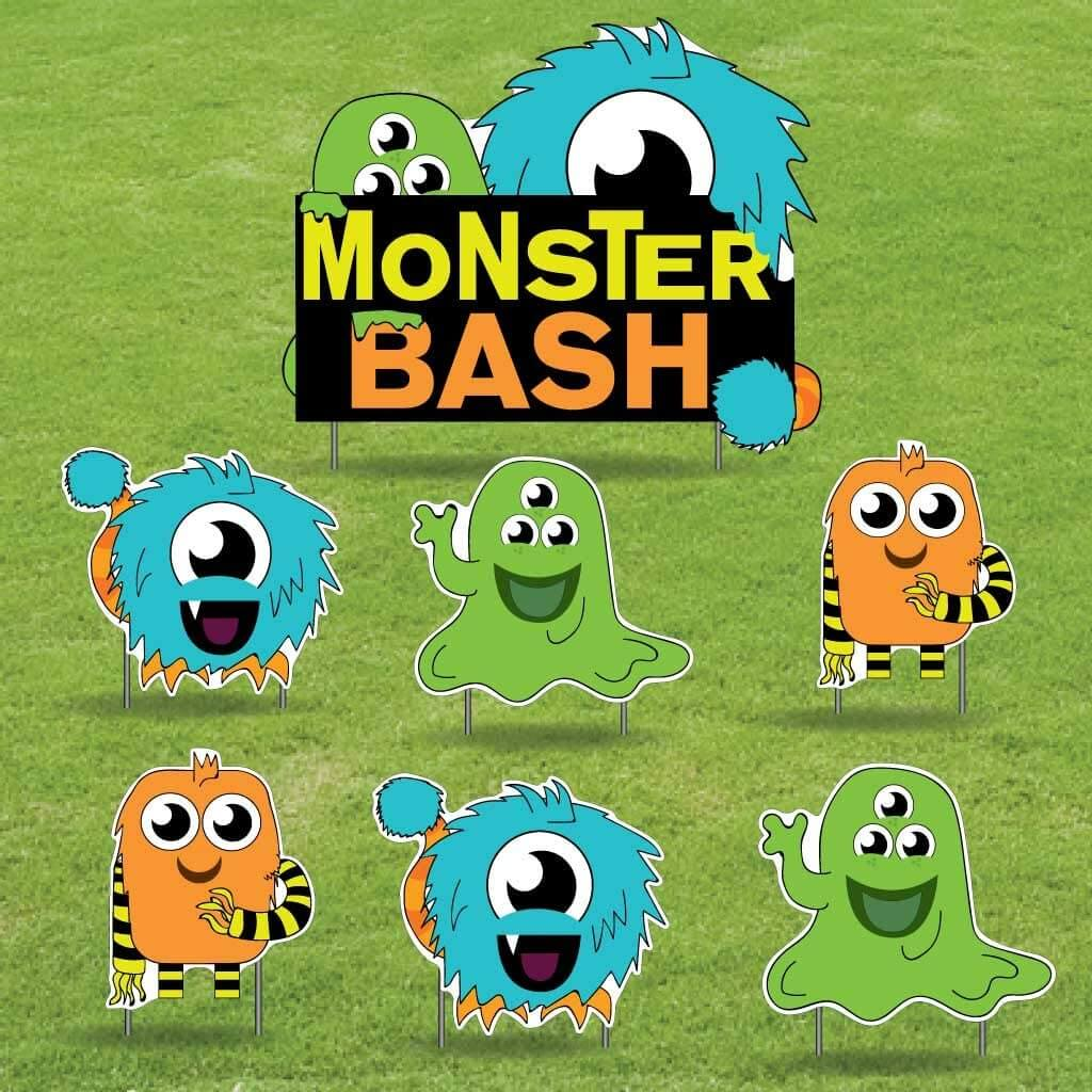 monster bash yard decor