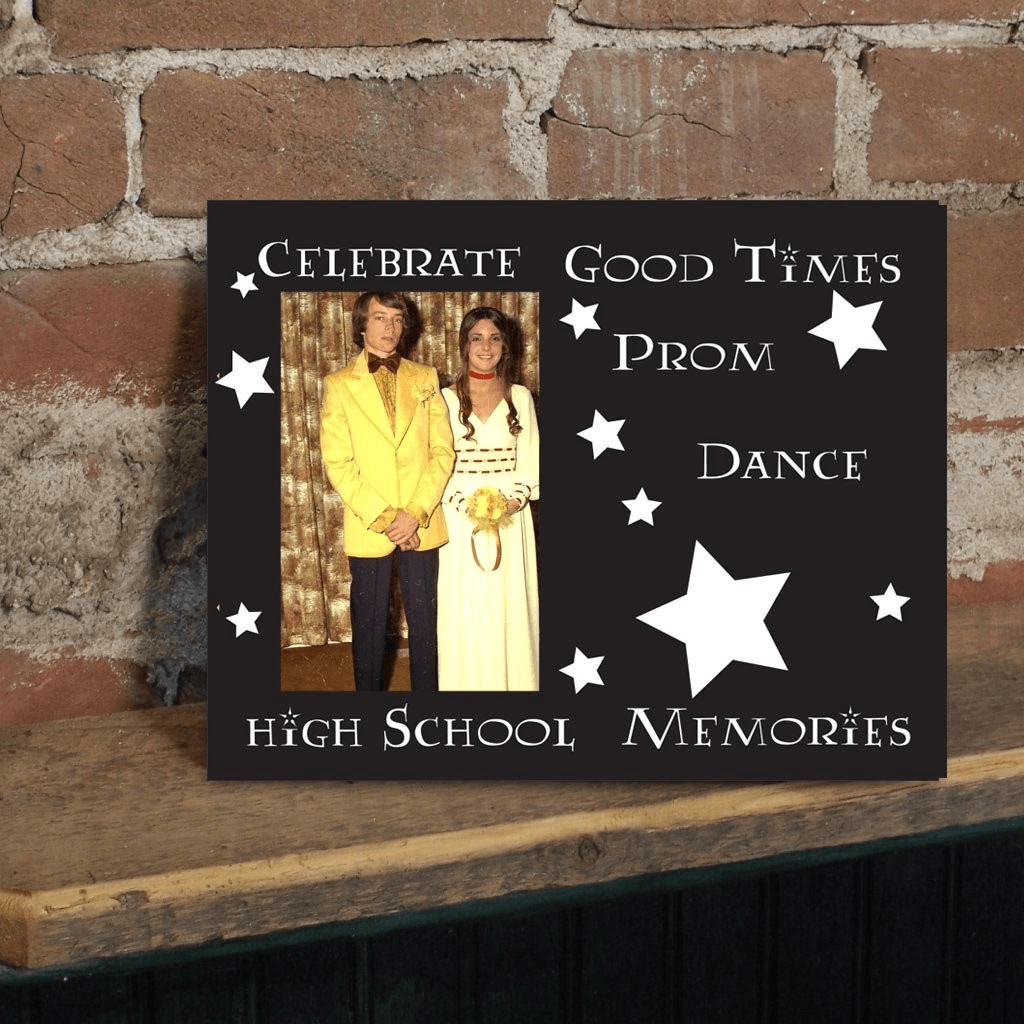 "Promposal Picture Frame - Holds 4x6 Photo -""Celebrate Good Times"""