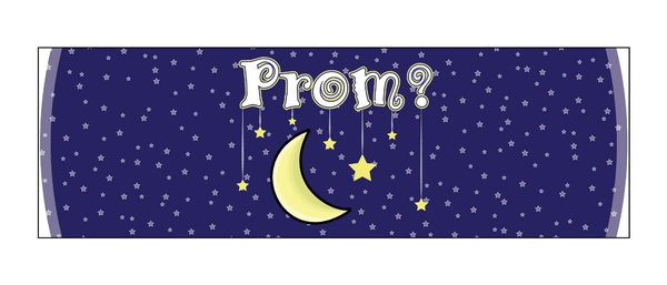 "Promposal 15oz Coffee Mug - Moon and Stars ""Prom?"""