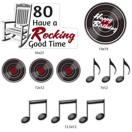 Have a Rocking Good Time 80th Birthday Yard Decorations - FREE SHIPPING
