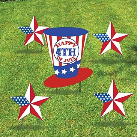 4th of July yard decoration