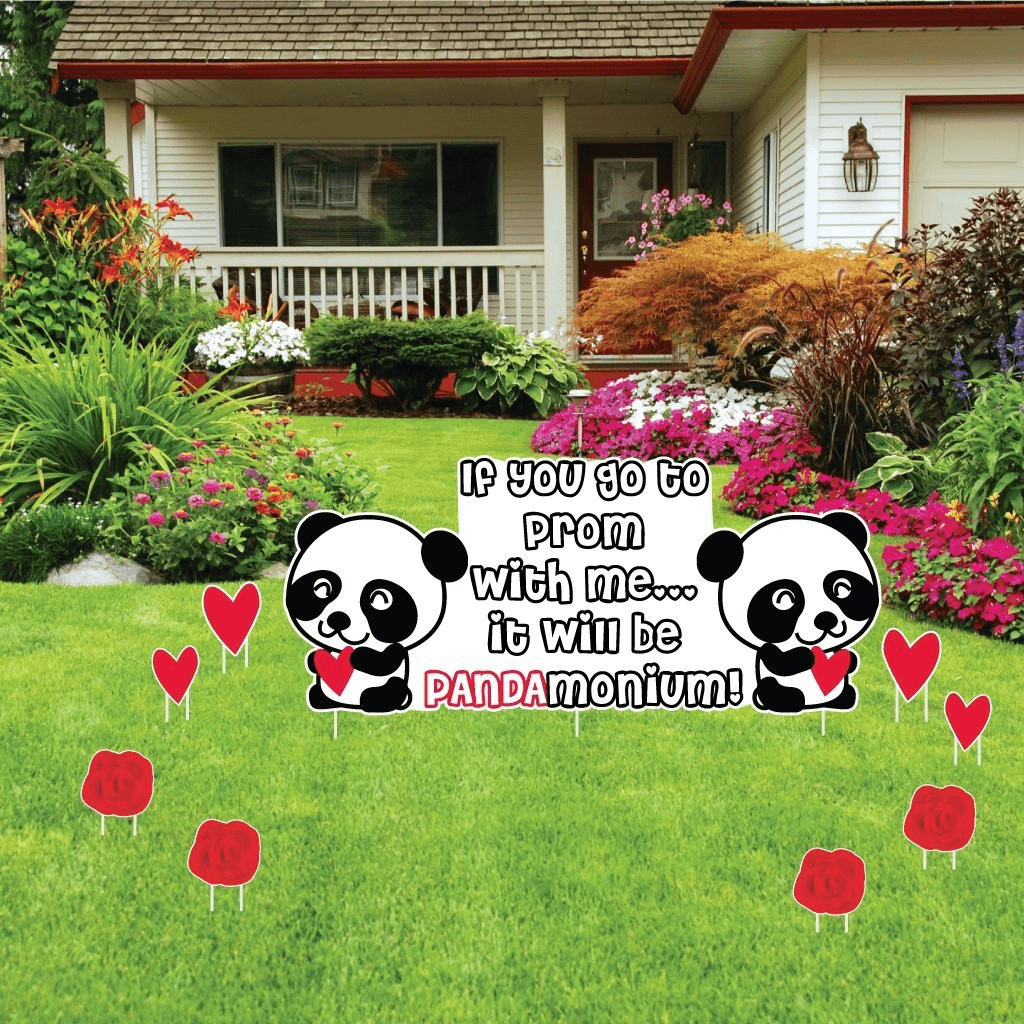 "Promposal - Yard Decoration - ""PANDAmonium Prom"" (set of 23) - FREE SHIPPING"