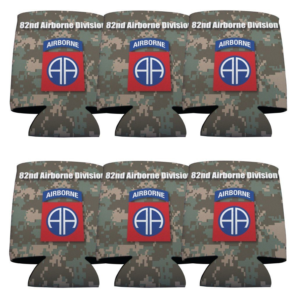 Military 82nd Airborne Division Can Cooler Set of 6 - 6 Designs - FREE SHIPPING