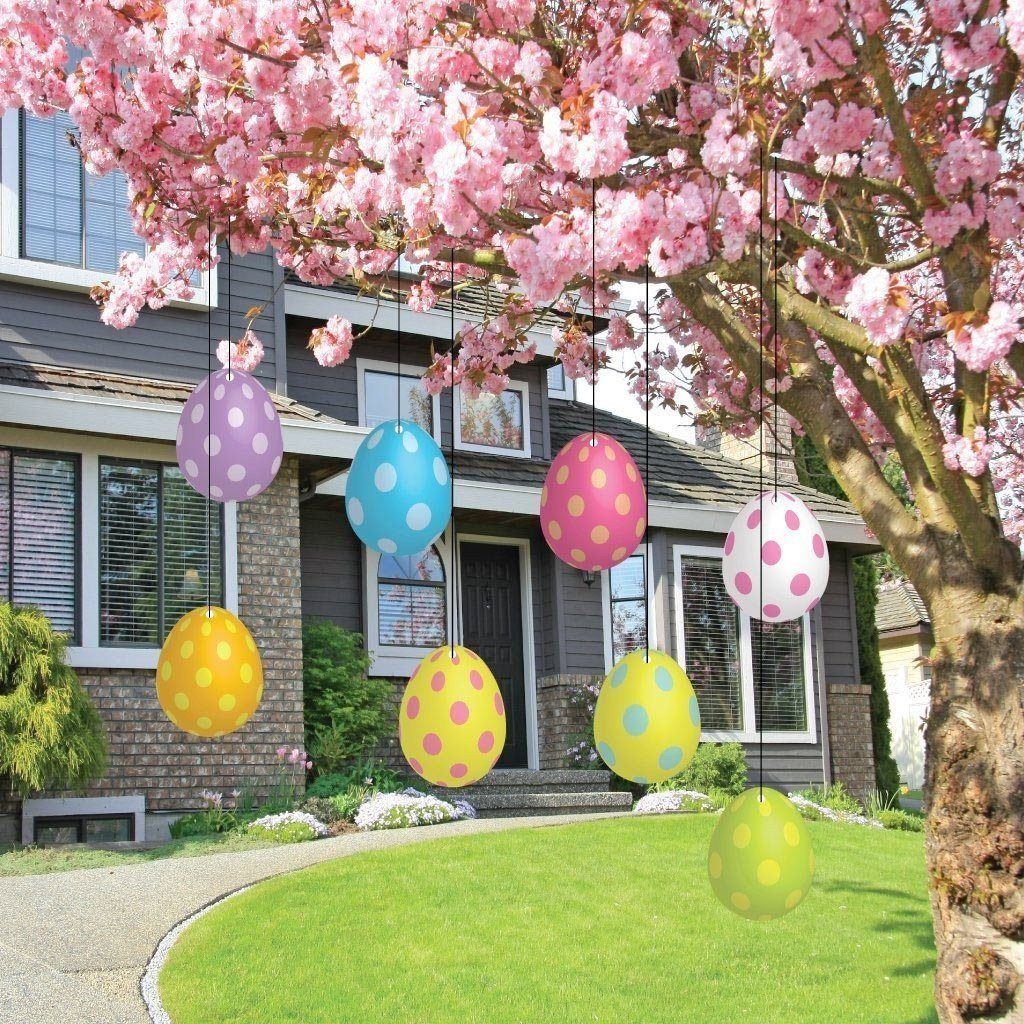 Easter themed yard decorations