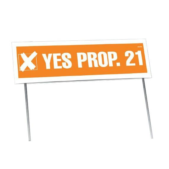 "8""x26"" Sealed Posterboard Sign Yard with Frames"