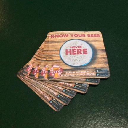 Augie Brew Augmented Reality Beer Coasters