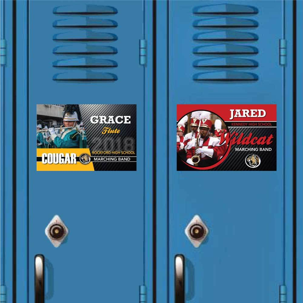 Marching Band Photo Magnets on Lockers