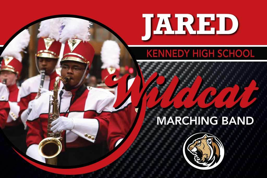 Marching Band Photo Locker Magnets