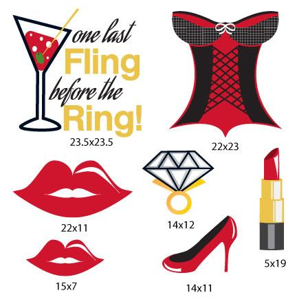 One Last Fling Before the Ring Bachelorette Party Decorations - FREE SHIPPING