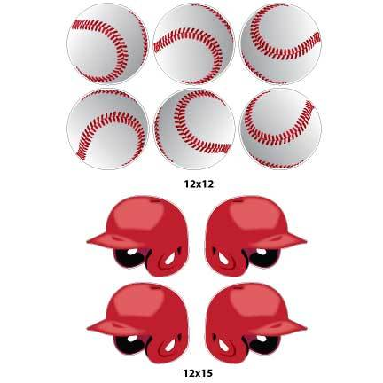 Baseballs and Helmets Yard Signs & Decorations - FREE SHIPPING