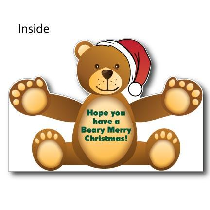 Giant Christmas Bear Hug Card - Stock Design