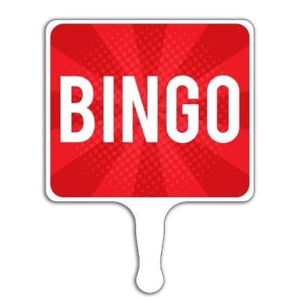 Bingo Hand Held Paddle Sign