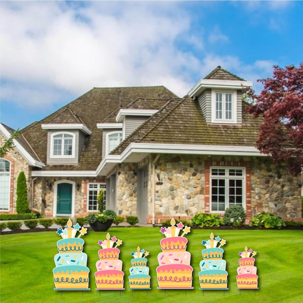 Birthday Themed Yard Greeting Accessories - FREE SHIPPING
