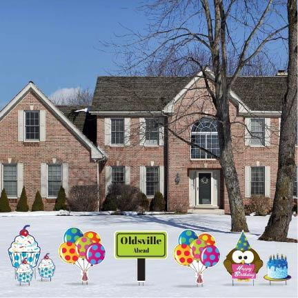 Oldsville Happy Birthday Funny Yard Decorations - FREE SHIPPING