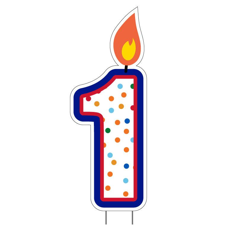 Birthday Cake Number Candles Yard Decorations - Set of 10 numbers