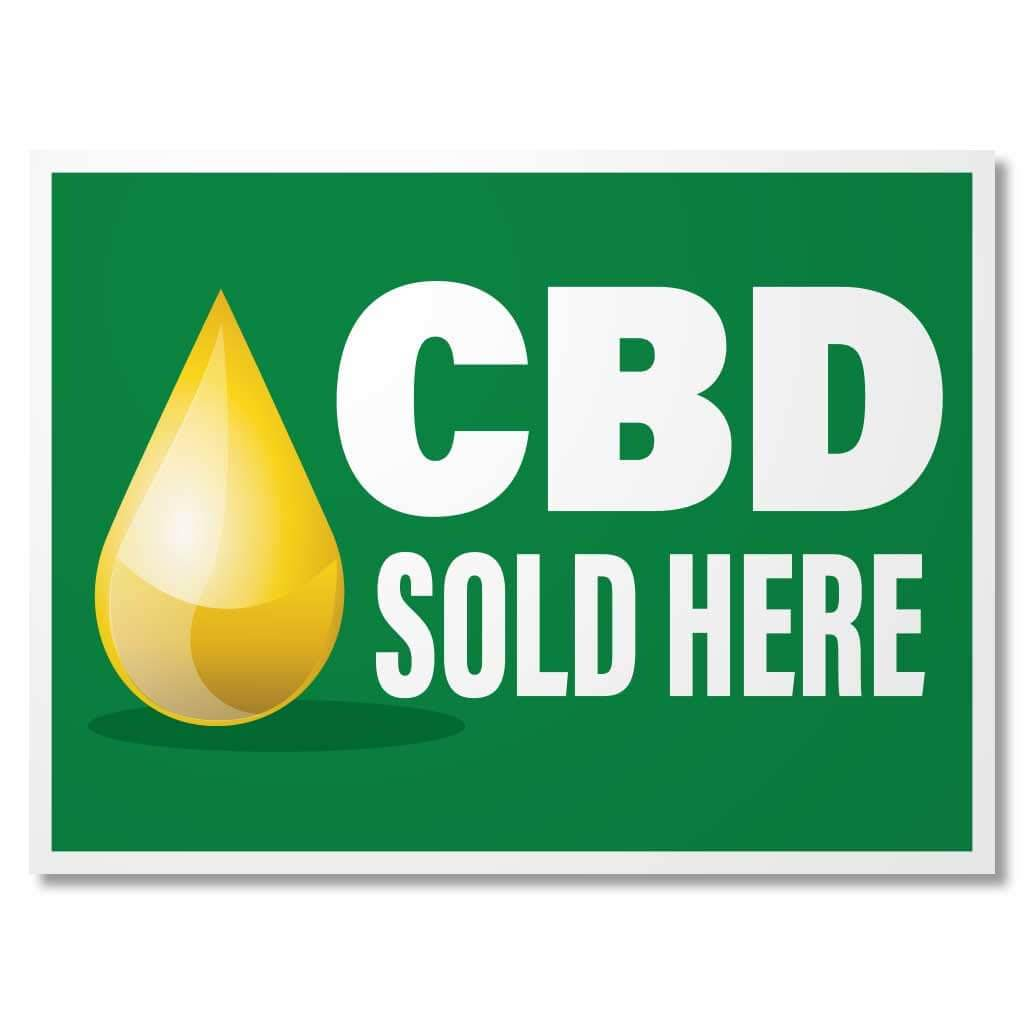 CBD Sold Here Banner & Sign Set - FREE SHIPPING