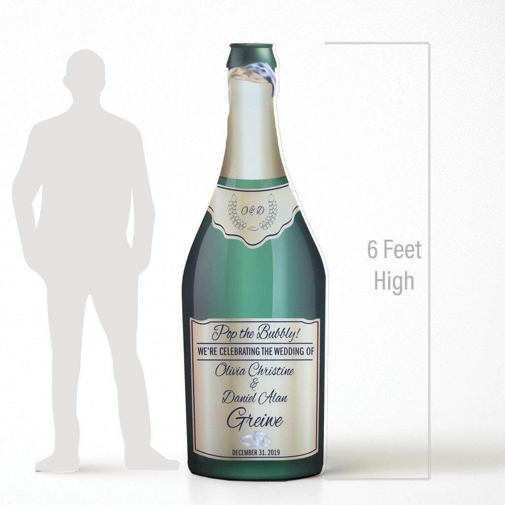 Custom Life Size Champagne Bottle Wedding Decoration
