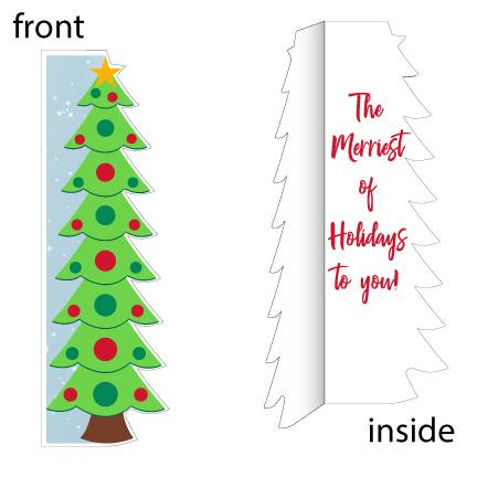 Giant Life-Sized Christmas Tree Holiday Card - FREE SHIPPING