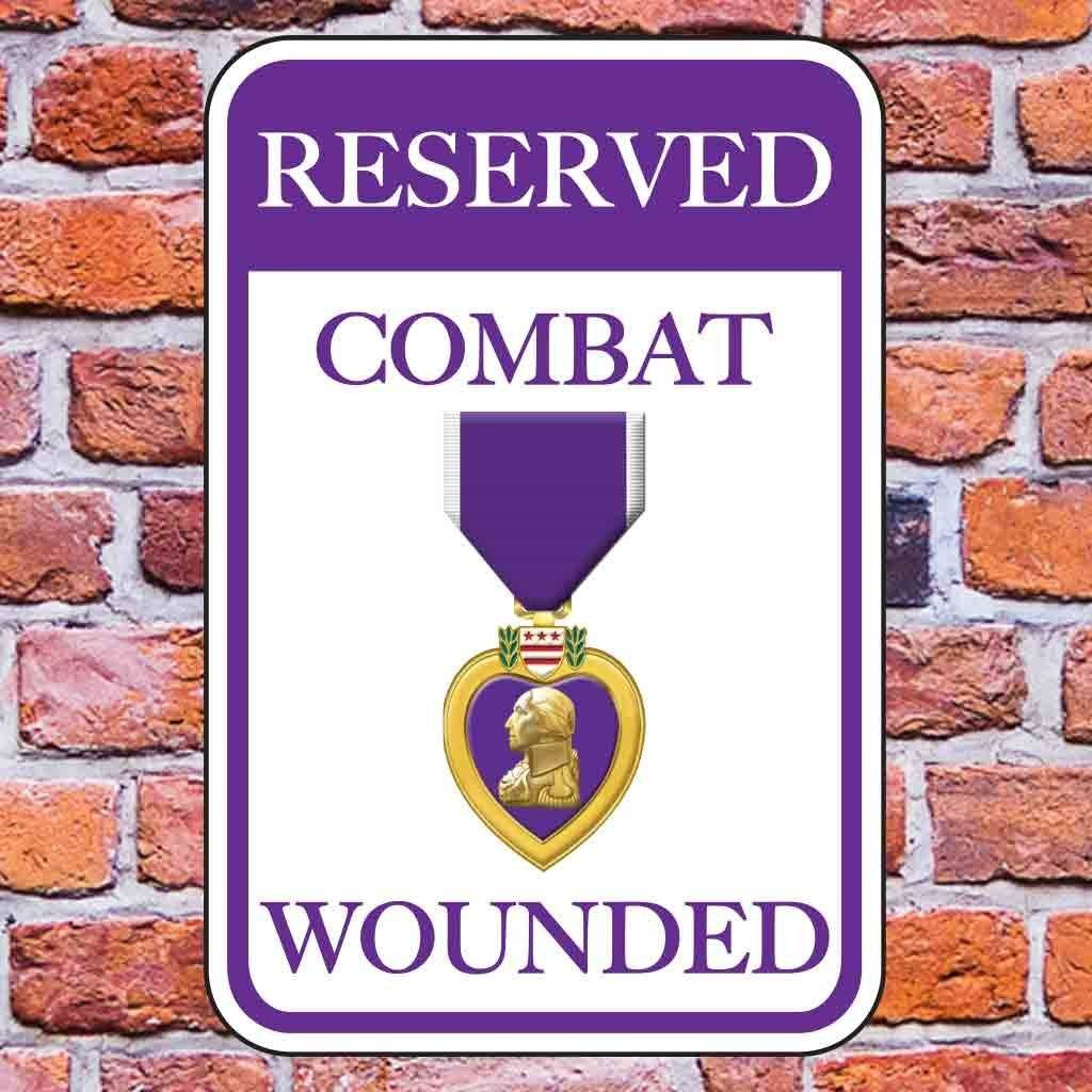 Reserved Combat Wounded Parking Sign Set of 2 FREE SHIPPING