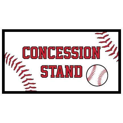 Concessions Banner - Baseball Concessions Waterproof Vinyl Banner