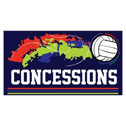 Concessions Banner - Volleyball Concessions Waterproof Vinyl Banner