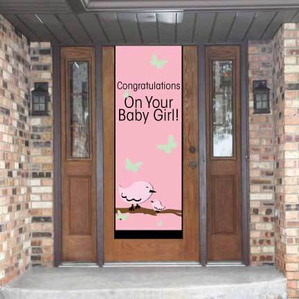 Congratulations On Your Baby Girl Door Banner