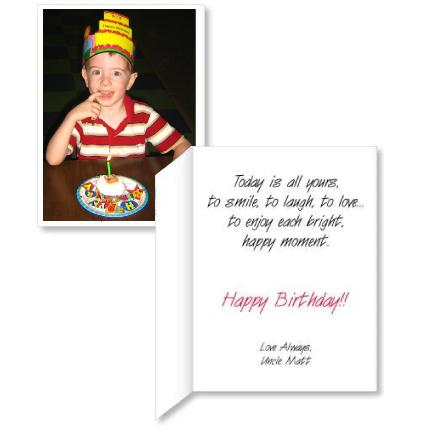 Giant Photo Upload Birthday Card w/Envelope