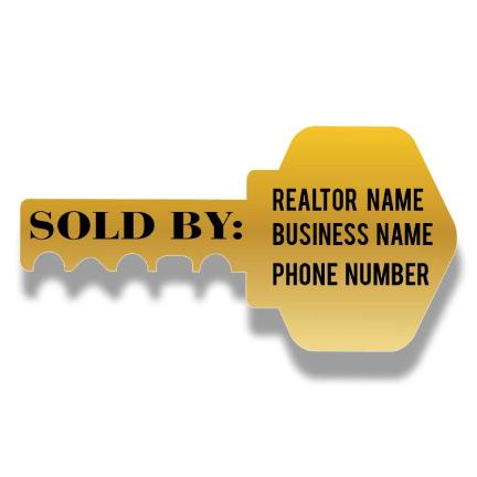 Realtor Photo Props - Sold by Custom Real Estate Signs